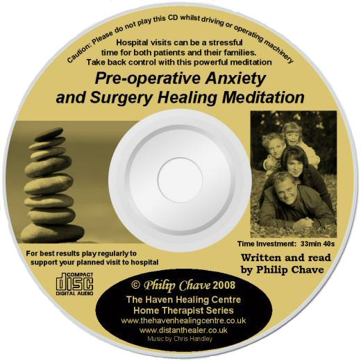 Preoperative Anxiety and Surgery Healing Meditation CD lightscribe label